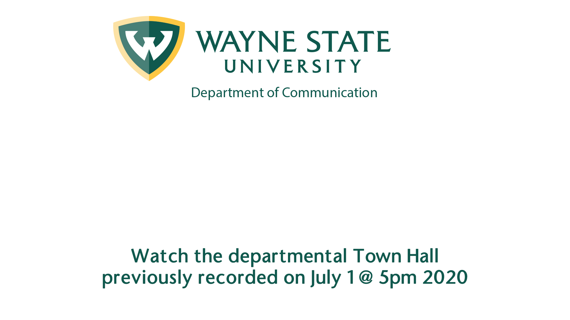 Fall 2020 Returning Student Town Hall from 8/24/2020